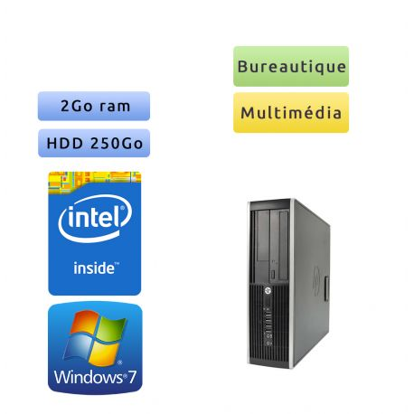 Hp 8200 Elite SFF - Windows 7 - G630 2GB 250GB - PC Tour Bureautique Ordinateur