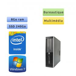 Hp 8200 Elite SFF - Windows 7 - G630 8GB 240GB SSD - PC Tour Bureautique Ordinateur