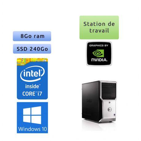 Dell Precision T1500 - Windows 10 - i7 8GB 240GB SSD - Ordinateur Tour Workstation PC