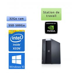 Dell Precision T5600 - Windows 10 - E5-2650 32Go 500Go SSD - Ordinateur Tour Workstation PC