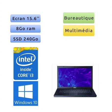Dell Vostro 3500 - Windows 10 - i3 8Go 240Go SSD - 15.6 - Ordinateur portable - écran anti-reflet