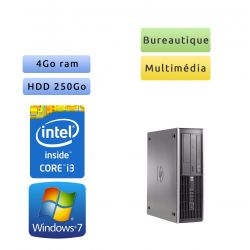 Hp 6200 Pro SFF - Windows 7 - i3 4GB 250GB - PC Tour Bureautique Ordinateur