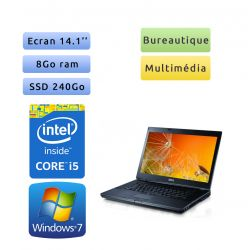 Dell Latitude E6410 - Windows 7 - i5 8Go 240Go SSD - 14.1 - Ordinateur Portable PC