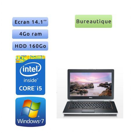 Dell Latitude E6420 - Windows 7 - i5 4GB 160GB - 14.1 - Webcam - Ordinateur Portable PC