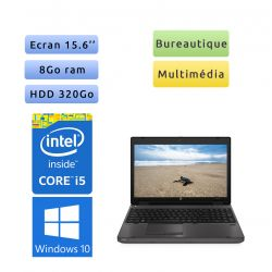 HP Compaq 6560b - Windows 10 - i5 8Go 320Go - 15.6 - Webcam - Ordinateur Portable PC