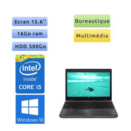 HP Compaq 6560b - Windows 10 - i5 16Go 500Go - 15.6 - Webcam - Ordinateur Portable PC