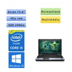 HP ProBook 6550b - Windows 10 - i5 4Go 240Go SSD - 15.6 - Ordinateur Portable PC