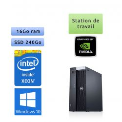 Dell Precision T5600 - Windows 10 - E5-2650 16Go 240Go SSD - Ordinateur Tour Workstation PC