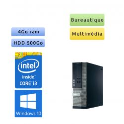 Dell Optiplex 390 SFF - Windows 10 - i3 4Go 500Go - Ordinateur Tour Bureautique PC