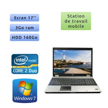 Hp EliteBook Workstation 8730w Windows 7 - Station de Travail Mobile PC Ordinateur