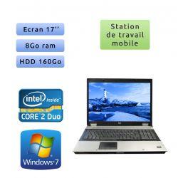 Hp EliteBook Workstation 8730w - 8Go - Windows 7 - Station de Travail Mobile PC Ordinateur
