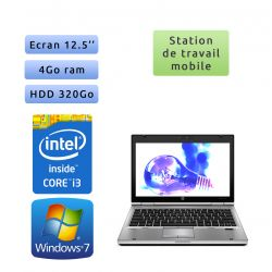 Hp EliteBook 2560p - Windows 7 - i3 4GB 320GB - 12.5 - Station de Travail Mobile PC Ordinateur