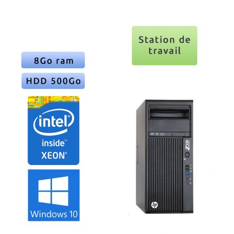 HP Workstation Z230 - Windows 7 - E3-1225v3 8GB 500GB - Ordinateur Tour Workstation PC