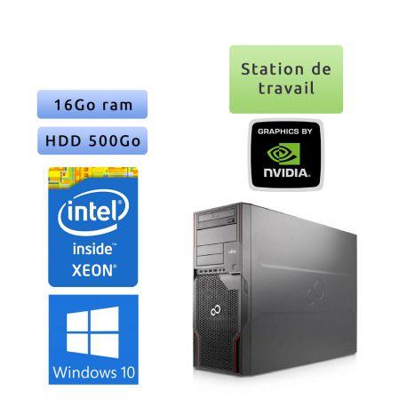 Fujitsu Celsius R920 - Windows 10 - E5-2640 16Go 500Go - Quadro 4000 - Station de travail