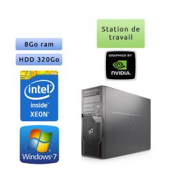 Fujitsu Celsius R920 - Windows 7 - E5-2640 8Go 320Go - Quadro 4000 - Station de travail
