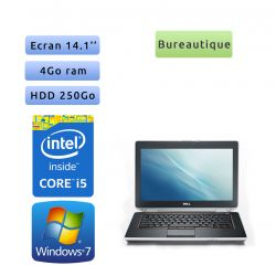 Dell Latitude E6420 - Windows 7 - i5 4GB 250GB - 14.1 - Webcam - Ordinateur Portable PC