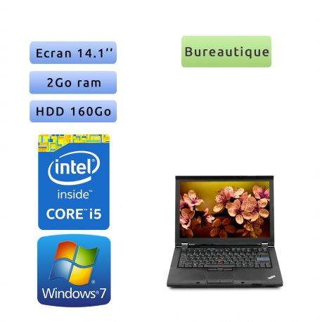 Lenovo ThinkPad T410 - Windows 7 - Webcam - i5 2GB 160GB - 14.1 - Ordinateur Portable PC