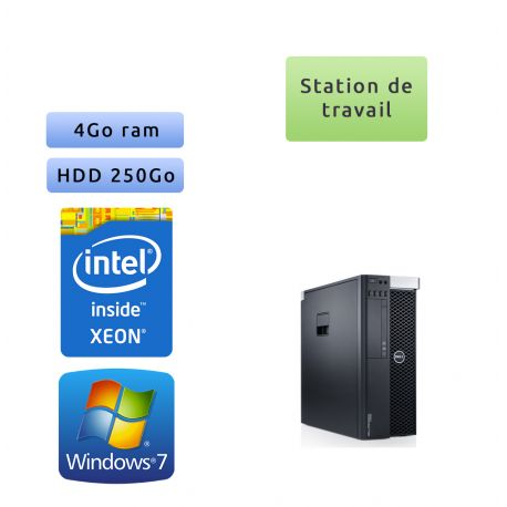Dell Precision T3600 - Windows 7 - E5-1620 4GB 250GB - Ordinateur Tour Workstation PC