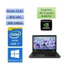 HP Zbook 15 - Windows 10 - i7 8Go 240Go - 15.6 - webcam - Station de travail - Créations graphiques