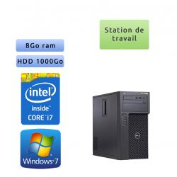 Dell Precision T1700 - Windows 7 - i7 8Go 1To - Workstation - Bon Stockage