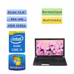 Toshiba Tecra R850 - Windows 7 - i3 4Go 250Go - Webcam - 15.6 - Ordinateur Portable