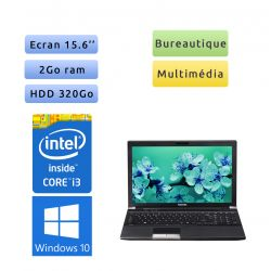 Toshiba Tecra R850 - Windows 10 - i3 2Go 320Go - Webcam - 15.6 - Ordinateur Portable