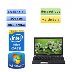 Toshiba Tecra R850 - Windows 7 - i3 2Go 320Go - Webcam - 15.6 - Ordinateur Portable
