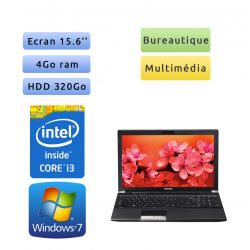 Toshiba Tecra R850 - Windows 7 - i3 4Go 320Go - Webcam - 15.6 - Ordinateur Portable