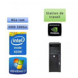 HP Workstation Z420 - Windows 7 - E5-1650 8GB 500GB - Quadro 2000 - Ordinateur Tour Workstation PC