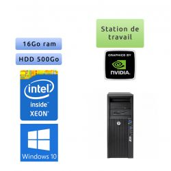 HP Workstation Z420 - Windows 10 - E5-1650 16GB 500GB - Quadro 2000 - Ordinateur Tour Workstation PC