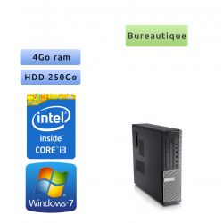 Dell Optiplex 790 SFF - Windows 7 - i3 4GB 250GB - Ordinateur Tour Bureautique PC