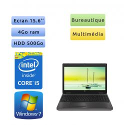 HP Probook 6570b - Windows 7 - i5 4GB 500GB - 15.6 - Webcam - Ordinateur Portable PC