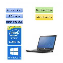 Dell Latitude E6540 - Windows 10 - i5 8Go 1To - 15.6 - Webcam - Ordinateur portable