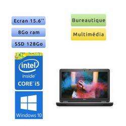 Dell Latitude E6540 - Windows 10 - i5 8Go 128Go SSD - 15.6 - Webcam - Ordinateur portable