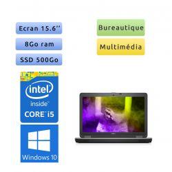 Dell Latitude E6540 - Windows 10 - i5 8Go 500Go SSD - 15.6 - Webcam - Ordinateur portable