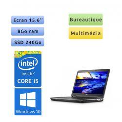Dell Latitude E6540 - Windows 10 - i5 8Go 240Go SSD - 15.6 - Webcam - Ordinateur portable