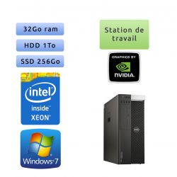 Dell Precision T5810 - Windows 7 - E5-1650v3 32Go 1To + 256Go SSD - K4200 - Ordinateur Tour Workstation PC