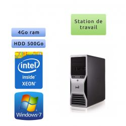 Station de travail Dell Precision T5500 - Windows 7 - E5507 4GB 500GB - Ordinateur Tour Workstation PC