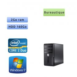 Dell Vostro 200 - Windows 7 - C2D 2GB 160GB - PC Tour Bureautique Ordinateur