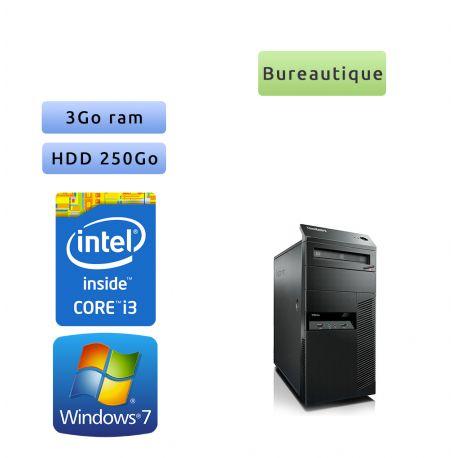 Lenovo ThinkCenter M90 - Windows 7 - i3 3GB 250GB - PC Tour Bureautique Ordinateur