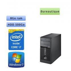 Fujitsu ESPRIMO P400 - Windows 7 - i7 8Go 500Go - Ordinateur Tour Bureautique PC
