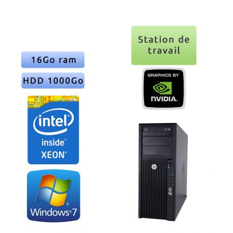 HP Workstation Z420 - Windows 7 - E5-1650 v2 16Go 1To - K2000 - Ordinateur Tour Workstation PC