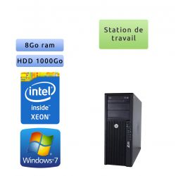 HP Workstation Z420 - Windows 7 - E5-1650 v2 8Go 1To - Ordinateur Tour Workstation PC