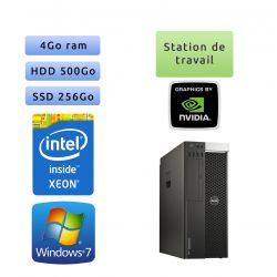 Dell Precision T5810 - Windows 7 - E5-1650v3 4Go 256Go SSD + 500Go - K2200 - Ordinateur Tour Workstation PC
