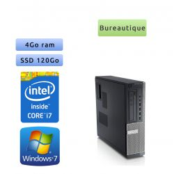 Dell Optiplex 790 SFF - Windows 7 - i7 4Go 120Go SSD - Ordinateur Tour Bureautique PC