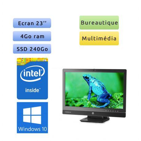 "HP EliteOne 800 G1 AiO - Windows 10 - 3.1GHz 4Go 240Go SSD - 23"" - Webcam - Tout en un"