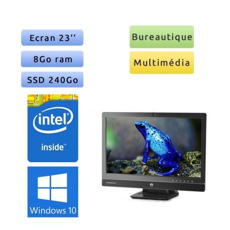"HP EliteOne 800 G1 AiO - Windows 10 - 3.1GHz 8Go 240Go SSD - 23"" - Webcam - Tout en un"