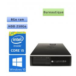 Hp 8200 Elite SFF - Windows 10 - i5 8GB 250GB - PC Tour Bureautique Ordinateur