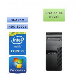 Lenovo ThinkCenter M83 - Windows 7 - i5 4GB 500GB - Station de travail Tour