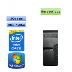 Lenovo ThinkCentre M91P - Windows 7 - i3 3GB 250GB - PC Tour Bureautique Ordinateur